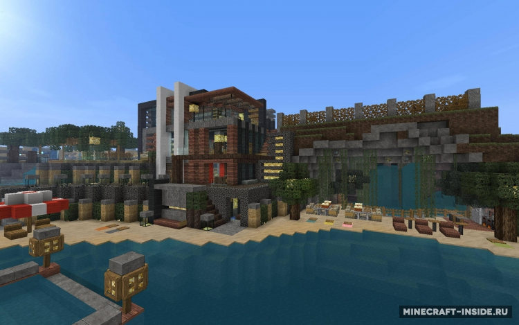 Luxurious cove house 1 8 1 1 8 1 1 7 2 for Minecraft modernes haus download 1 7 2