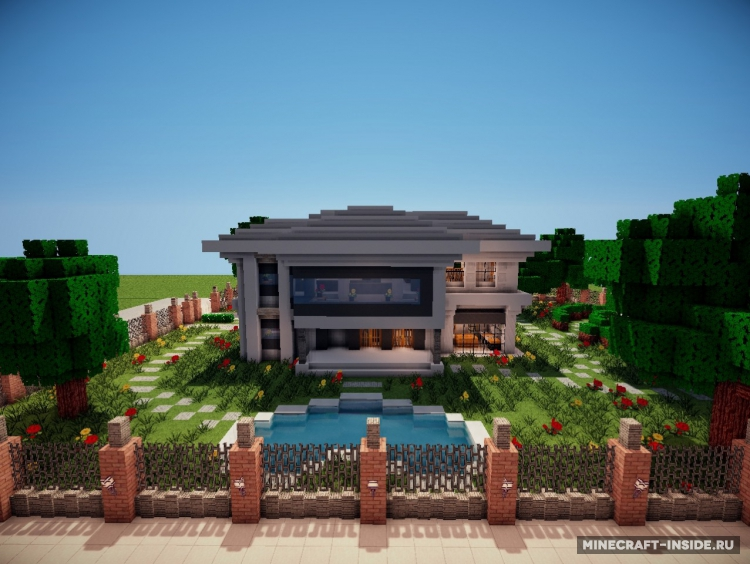 Modern house 1 8 1 for Minecraft modern house download 1 8